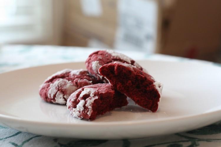 Red velvet crinkles.