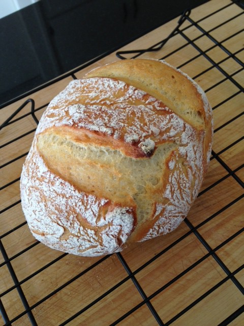 No-Knead Crusty Bread.